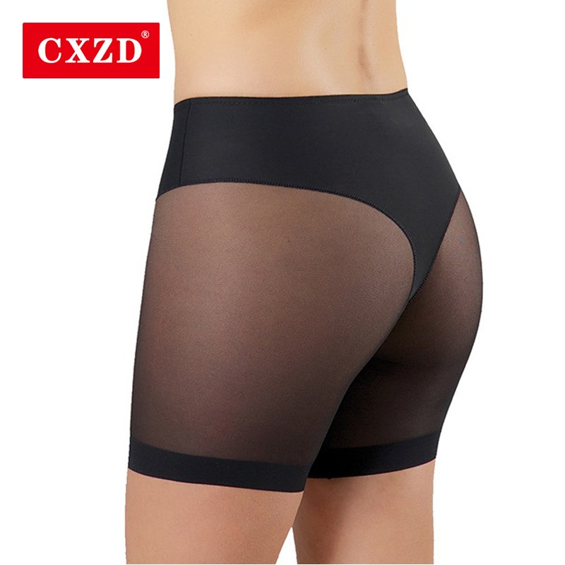 CXZD Women High Stretch Seamfree control Panties Underpants Net Cloth Splicing Mesh Body Shaping Smooth Slip Short Panties