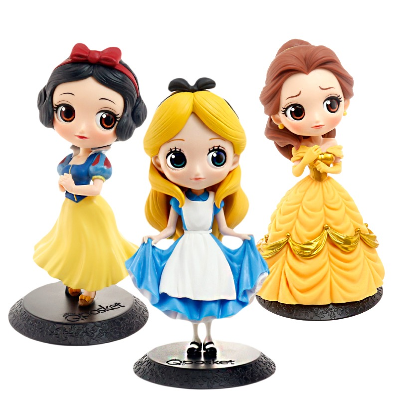 3 Styles OF Snow White Alice Beauty Doll Toy Model 7.5 CM Cinderella Cartoon Toy Birthday Cake Decoration Gift