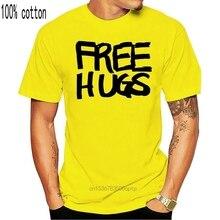 Free Hugs Unisex T Shirt Vintage Graphic Tee Shirt New Fashion Design For Men Women