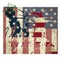 EARLFAMILY 13 см x 11,2 см для американского флага, Либерти, Мультяшные автомобильные наклейки, наклейки с прикусом и царапинами, Laotop, водонепроницае...