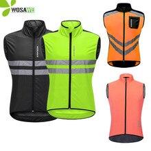 WOSAWE Thin Cycling Jackets Rain Repellent Sleeveless Windproof Reflective Waistcoat MTB Bike Clothing Mens Windbreaker