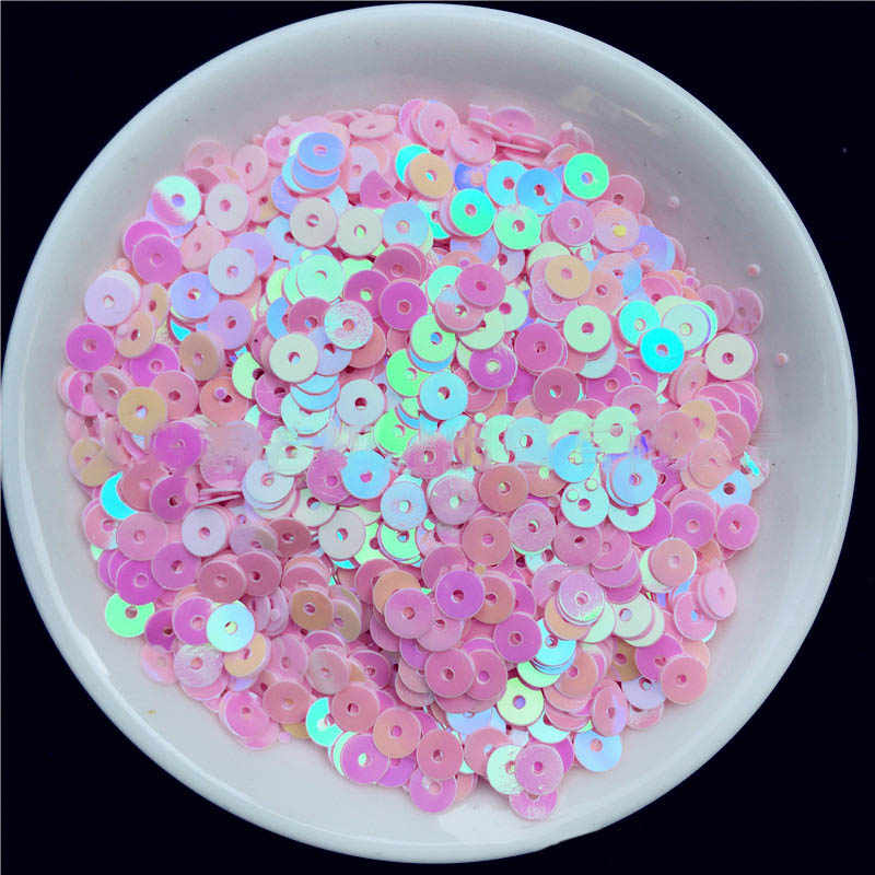 2000 Pcs in Pvc Paillettes Multicolore di Plastica Allentati Paillettes per Il Vestito Del Partito Della Casa di Cerimonia Nuziale Della Decorazione Paillettes Perle di Vetro Posto Del Tubo di 4mm