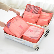 Buy 6 pcs Travel Organizer Storage Bag Set Portable Luggage Organizer Clothes Tidy Pouch Suitcase Home Wardrobe Clothing Storage Bag directly from merchant!