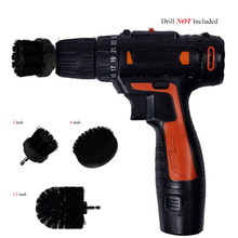 Power Scrubber Brush Set For Bathroom Drill Cleaning Cordless Attachment Kit Scrub Black
