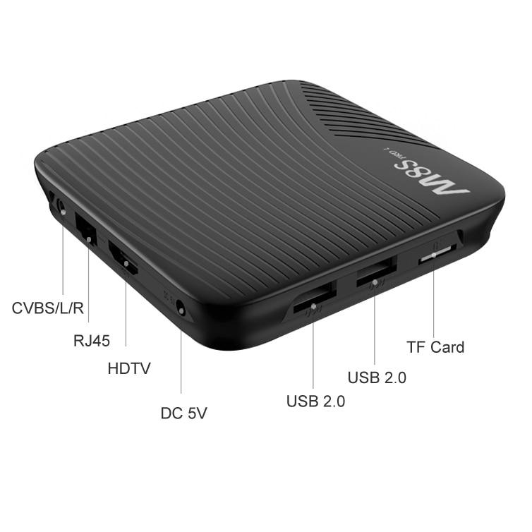 Mecool M8S Pro L Smart TV Box Amlogic S912 3GB RAM 32GB ROM 5G WIFI bluetooth 4,1 4K Android TV Box für HD Netflix 4K Youtube