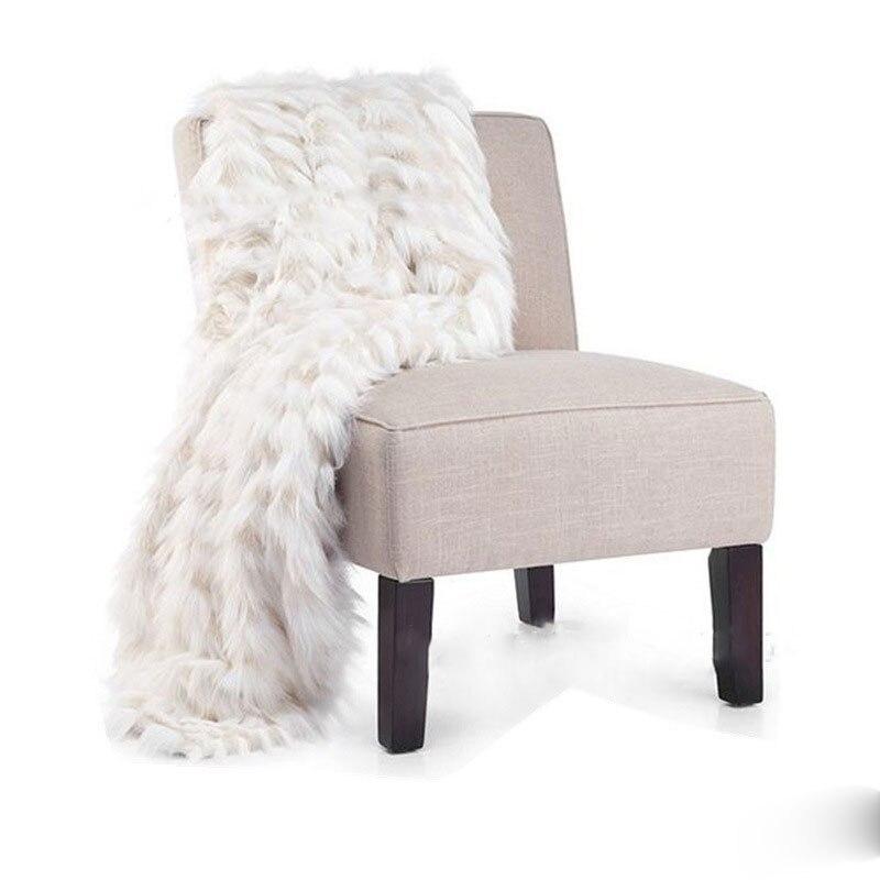 Couverture de fourrure exquise jacquard imitation cuir couverture modèle chambre doux chargé villa lit