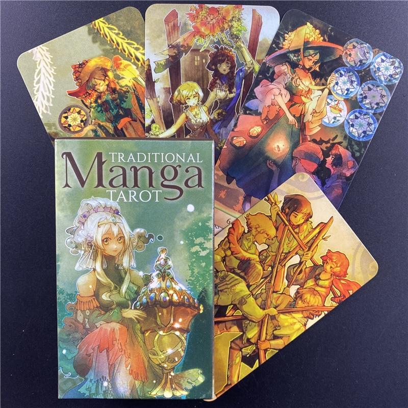 Лидер продаж, традиционные карты манга-Таро, английские карты-ораклы для женщин и девочек, Настольная настольная игра-Таро