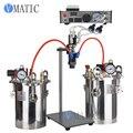 Бесплатная доставка VMATIC диспенсер для клея AB оборудование автоматическая машина для дозирования клея с 2 шт 10L дозатор для клея и двойной кл...