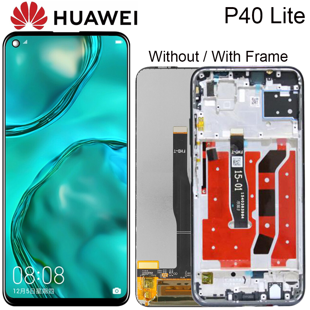 ЖК-дисплей для Huawei P40 Lite с дигитайзером в сборе, сенсорный экран для Huawei P40 Lite, Nova 6 SE, оригинал