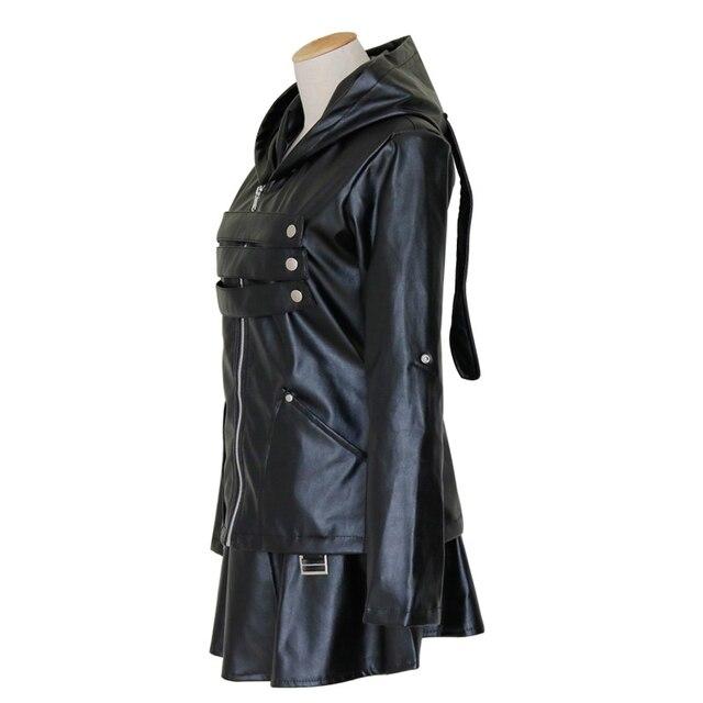 S à 2XL japonais Anime Tokyo Ghoul Touka Kirishima Cosplay Costumes femmes en cuir noir jupe veste à capuche avec ensemble de bas