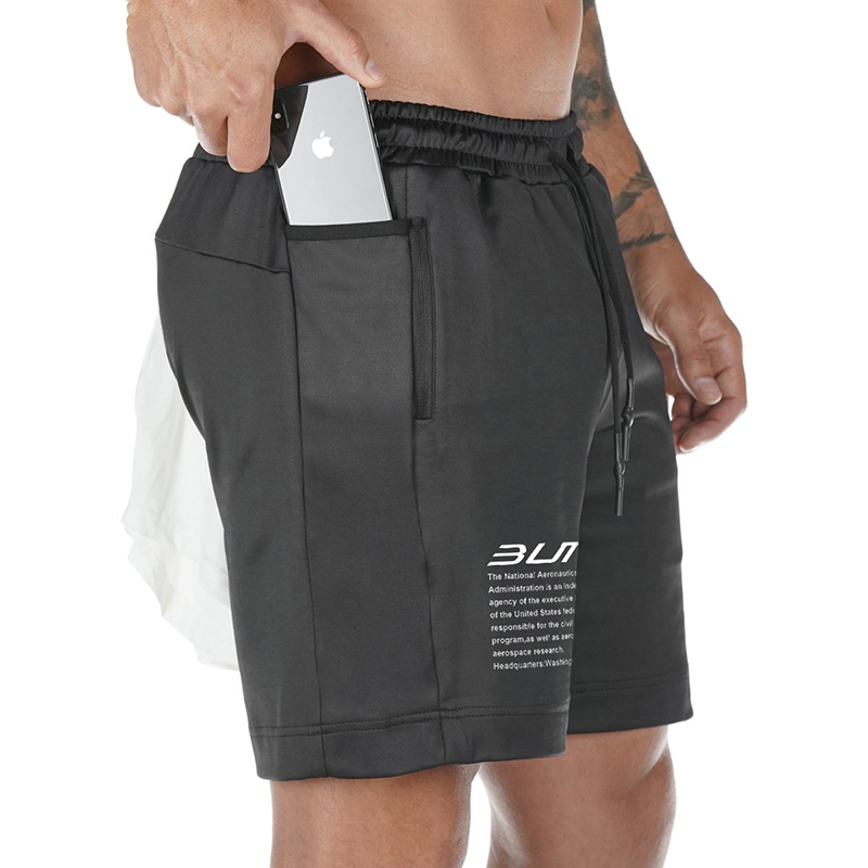 2020 Summer Running Shorts Men 2 in 1 Sports Jogging Fitness Shorts Training Quick Dry Mens Gym Men Shorts Sport gym Short Pants 1