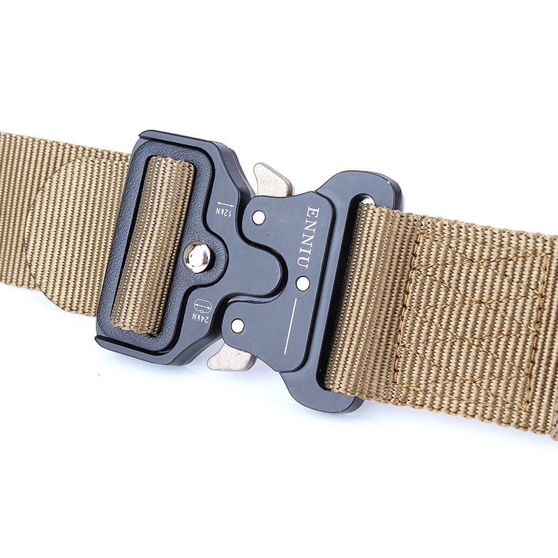 Ha758c5f3c3c14a1d9983d386dd9b9470V - Army Tactical Belt Military Black Metal Buckle Adjustable Length Outdoor Multi-functional Training Nylon Belt Accessories