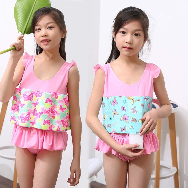 Korean-style Hipster Floating Clothing Infants One-piece Swimsuit For Children CHILDREN'S Buoyancy Swimsuit 3-6-Year-Old Girls B