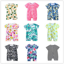 2020 New Born Baby Boys Girls Cartoon Clothing Summer Thin Short Sleeved Rompers Infant jumpsuits Animal Costumes Baby Clothes(China)