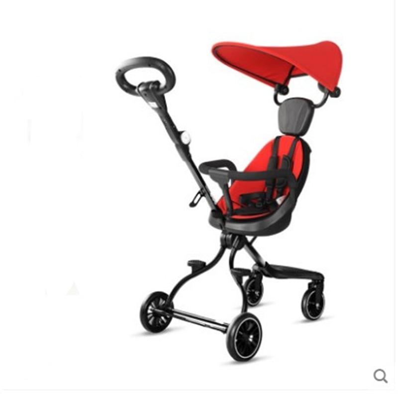 Baby Stroller Can Sit Light Folding Stroller High Landscape Children Baby Kids Stroller