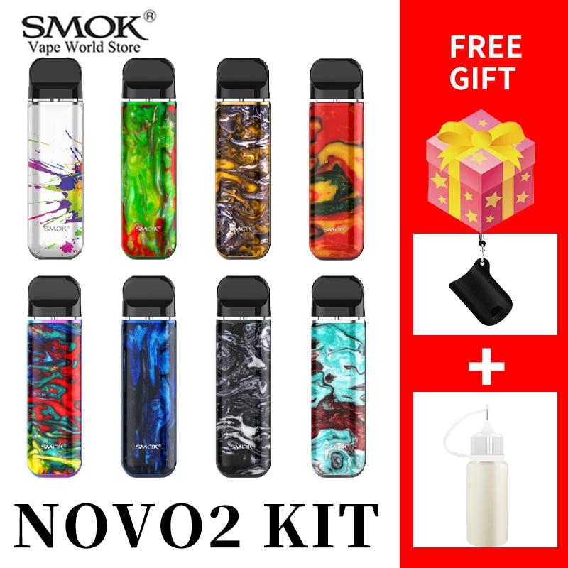 VAPE SMOK NOVO2 Kit 800 Mah Battery Cigarette Electronique 2ml Tank  Novo MTL Pod  VS Smok Nord Vape Pen