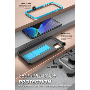 """Image 3 - For iPhone 11 Pro Case 5.8"""" (2019) SUPCASE UB Pro Full Body Rugged Holster Case Cover with Built in Screen Protector & Kickstand"""
