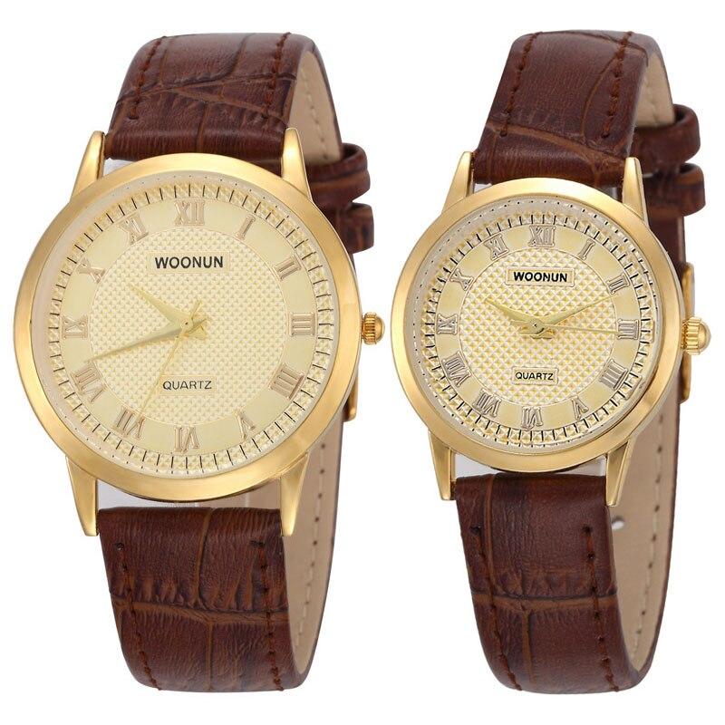 Fashion Couple Watch Lovers Watches Leather Band Quartz Wristwatches Women Men Fashion Casual Watches Reloj Hombre Reloj Mujer