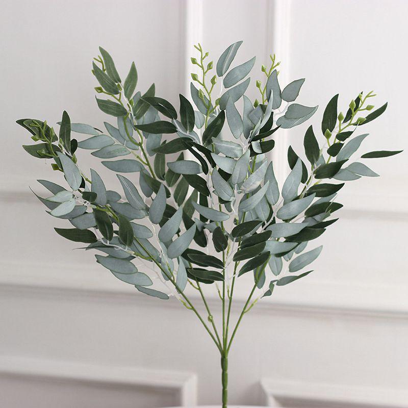 5 вилки искусственные растения, ненастоящие Листья Шелковый запасами ивовых деревьев БУКЕТ зеленый виноград искусственная листва DIY ВЕНОК ...