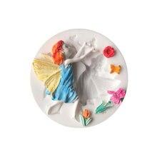 3D цветок сказочная форма, силиконовая форма, шоколадная форма для помадки, инструменты для выпечки, цветок, фея, помадка, сделай сам, форма для помадки, форма для торта