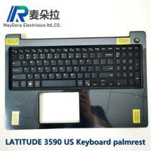 Us ind teclado palma resto para dell LATITUDE15-3000 3590 e3590 l3590 teclado palrest montagem IMR-BLACK