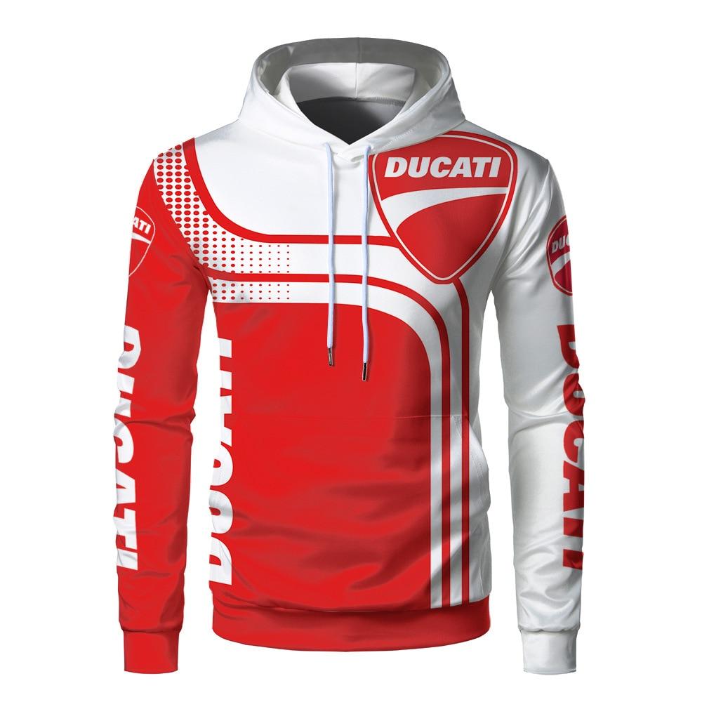 Ducati Hoodie 3 D Printed Plus Size Sweatskirt Windbreaker