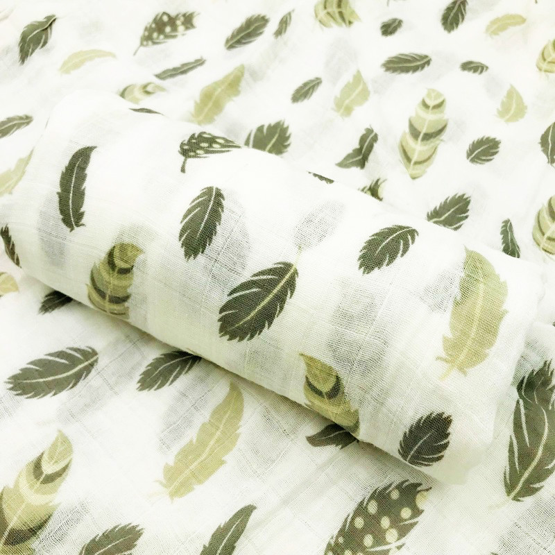 2019 New Feather 100% Cotton Muslin Baby Blanket Swaddle Wrap For Newborn Better Soft Babies Blankets Bedding Bath Towel