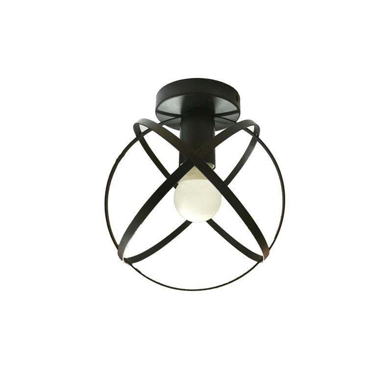Modern Black Wrought Iron E27 Led Ceiling Lamps For Kitchen Living Room Bedroom Corridor Balcony Porch Restaurant Cafe Hotel