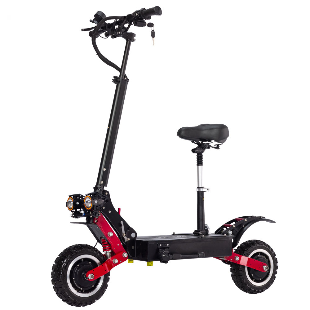 Janobike T85 Adult Electric Scooter 60V5600W Dual-drive Off-road Electric Scooter With Disc Hydraulic Brake Panasonic Battery