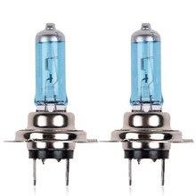 2 шт. H7 галогенная лампа 6000K Цветовая температура прозрачное освещение белые лампы автомобильные лампочки# LR25