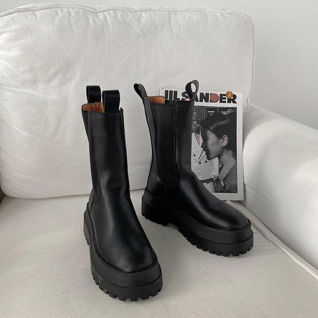 PU Chelsea Boots Women's Shoes 2020