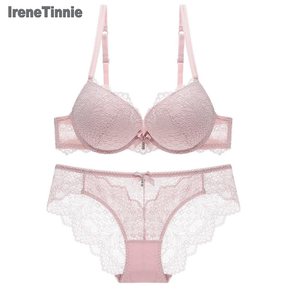 Irene Tinnie Push Up Bra Sexy Embroidery Lace Bras Intimate Brassiere Underwire Bralette For Women Underwear Lingerie