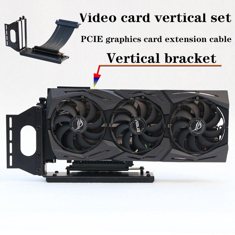 Pci-e 3.0 16x gráficos cabo vertical kickstand/base atx caso flexível conector riser cabo extensão adaptador para gpu