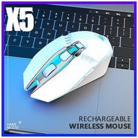 HobbyLane X5 Wireless Gaming Maus Wiederaufladbare 500mAh Batterie Bluetooth 3.0 + 5.0 + 2 4G Maus Einstellbar DPI für laptop PC Mac d25