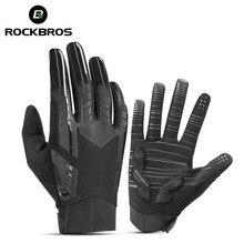 ROCKBROS-gant de cyclisme pour hommes et femmes, à écran tactile, antidérapant, coupe-vent, complet, doigt, hiver gants de VTT