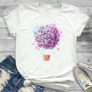 Women 2020 Summer Short Sleeve Flower Fashion Lady T-shirts Top T Shirt Ladies Womens Floral Graphic Female Tee T-Shirt short sleeve floral graphic tee