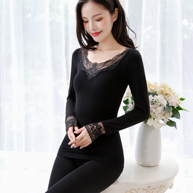 Women Tunic Winter Thermal Underwears Fashion Seamless Breathable Warm Long Johns Ladies 2019 New Slim Underwears Sets Bottoming