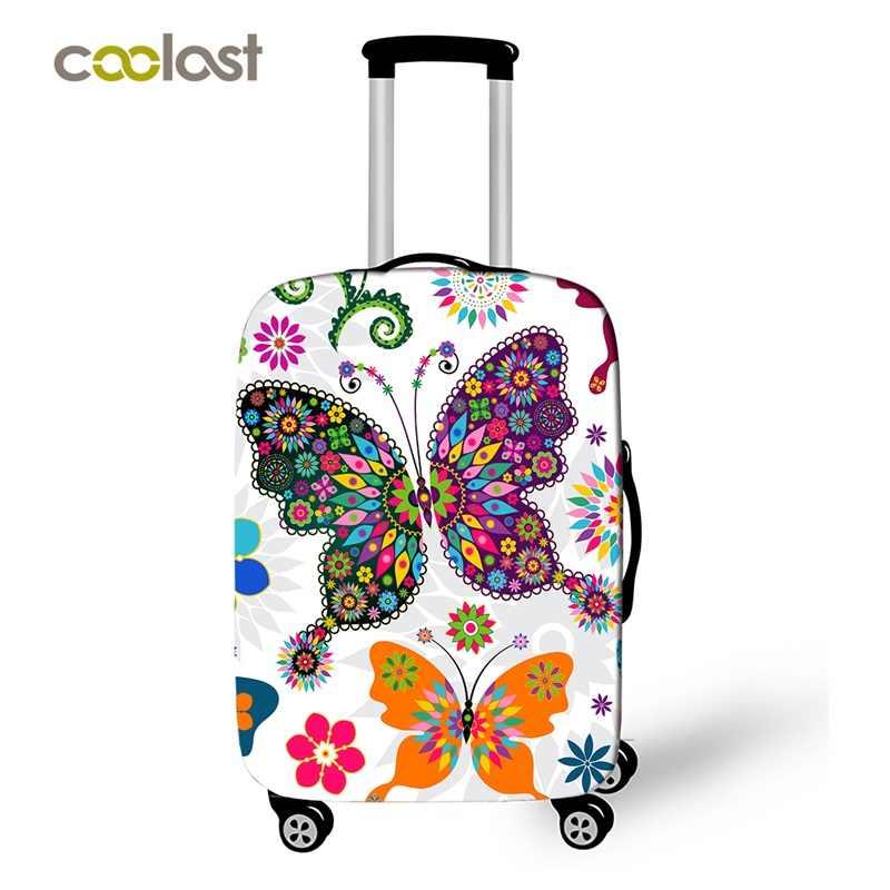"""Maleta con ruedas de mariposa de 18 """"-32"""", Fundas protectoras para equipaje elástico para niñas, funda de viaje, bolsa, accesorios de viaje para llevar"""
