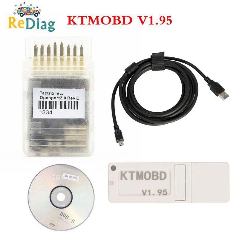 Newest KTMOBD V1.95/1.20 KTMOBD ECU Upgrade Tool Openport J2534 Transfer Stable Real Reading KTM OBD USB Dongle Free Shipping
