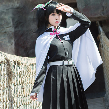 Disfraz de Cosplay de Demon Slayer, Kimetsu no Yaiba Kanao tsuyura Kanawo, Kimono, traje del equipo Kisatsutai, envío directo