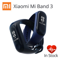Original Global Version Mi Band 3 Smart miband3 Bracelet Heart Rate Fitness Tracker Watch 0.78 inch OLED Display 20 Days Standby