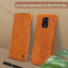 Dla xiaomi redmi note 9s przypadku NILLKIN rocznika odwróć pokrywa portfel PU skóra PC tylna pokrywa redmi 10X Redmi uwaga 9 pro / 9 pro max
