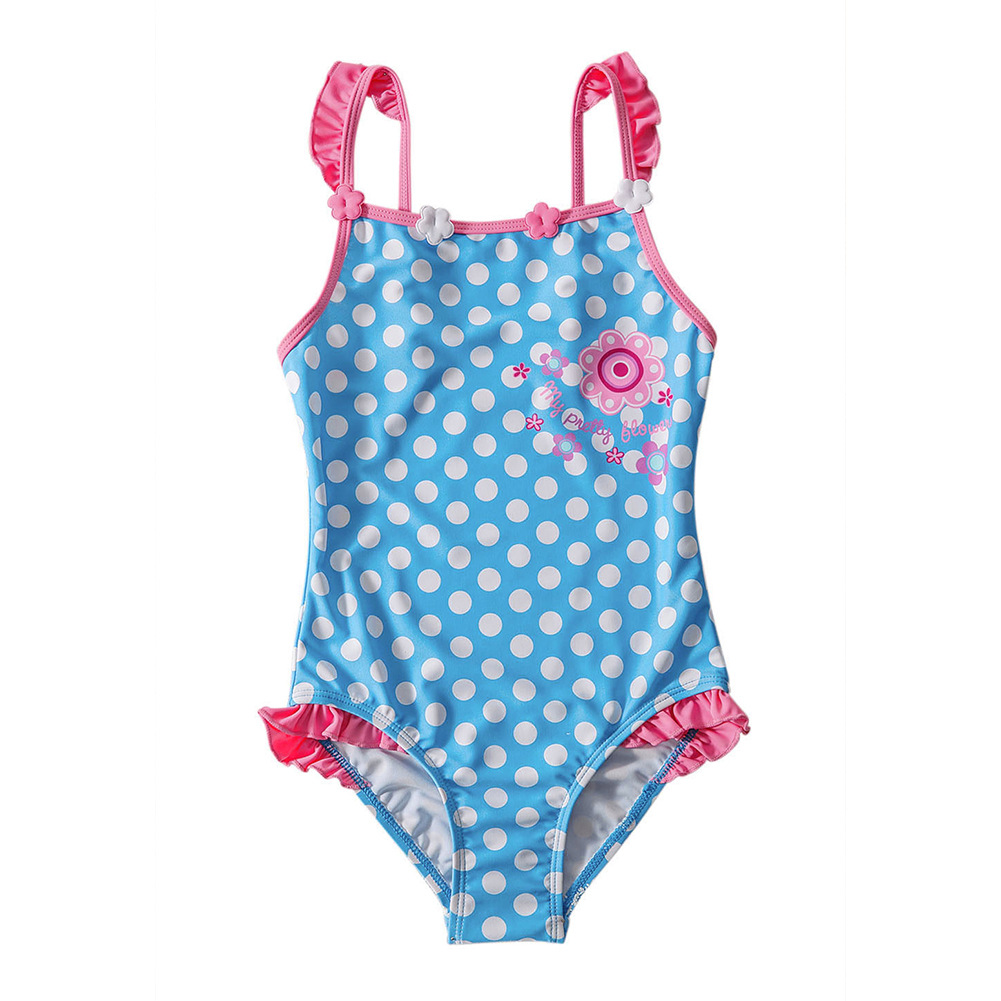 KID'S Swimwear Women's Dotted Print GIRL'S One-piece Swimsuit Diving Suit Big Boy Tour Bathing Suit TZ4100014