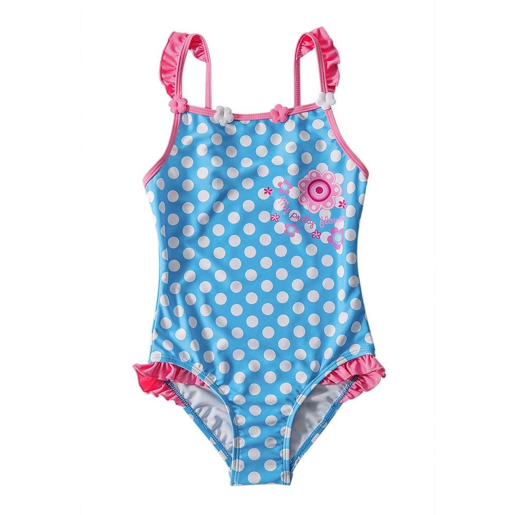 KID'S Swimwear Women's Dotted Print GIRL'S One-piece Swimsuit Diving Suit Big Boy Tour Bathing Suit TZ4100014