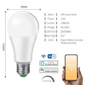 Image 4 - 85 265V E27 LED מנורת RGB 15W Bluetooth Wifi APP שליטה חכם הנורה 10W RGBW RGBWW אור הנורה IR שלט רחוק בית תאורה