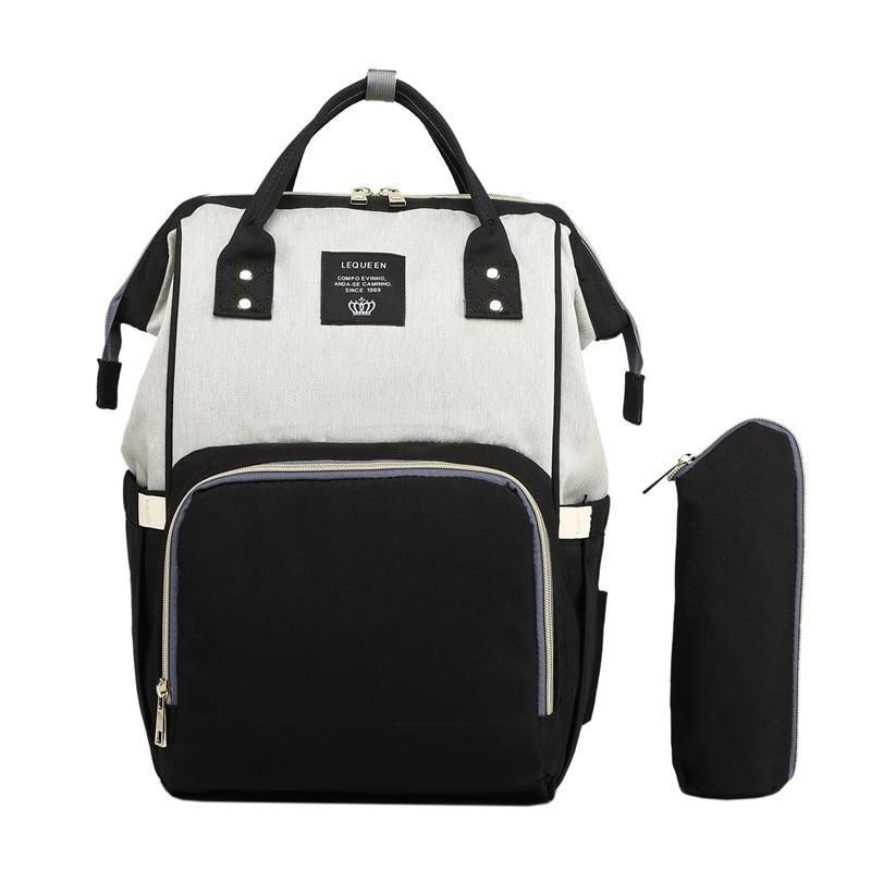 Lequeen модная сумка для мам и мам с USB, брендовая Большая вместительная Детская сумка, дорожный рюкзак, дизайнерская сумка для ухода за ребенко...