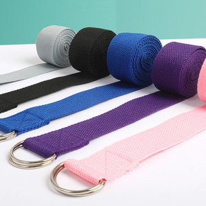 Wholesale Yoga Belts Training Rope Stretch Strap Multi Function Pilates Yoga D-Ring Workout Tools Gym Equipment 5 Pcs