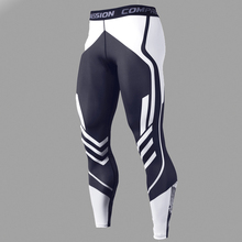 Men's Compression Pants Men Sportswear Training  Leggings Bodybuilding Gym Skinny Trousers Tights Bottoms Running Pants Men
