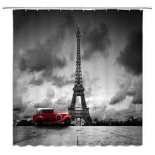 Занавеска для душа с изображением Эйфелевой башни креативная