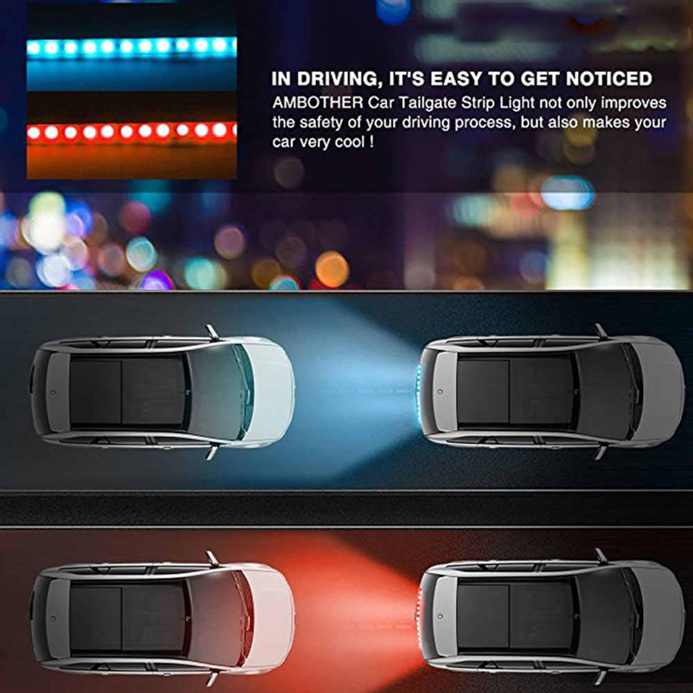 Vehemo bagażnika diody na wstążce samochodów dekoracyjna lampa sygnału lampy wyścigów konnych uniwersalny skrzynka ogonowa lampa płynącej Flash SUV